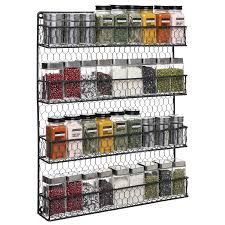 Spice Rack Holder 4 Tier Country Rustic Chicken Wire Spice Rack Black Mygift