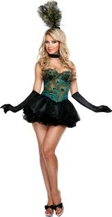 Party Halloween Costumes Girls Ravishing Peacock Costume Party Clothing Stuff