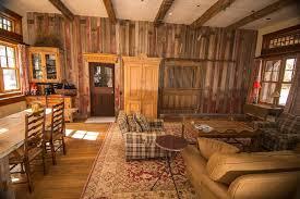 photo 35662 reclaimed weathered timbers and barnwood paneling