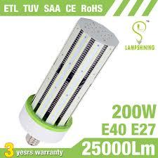e40 e27 200w led corn bulb equivalent 1000 watt metal halide lamp