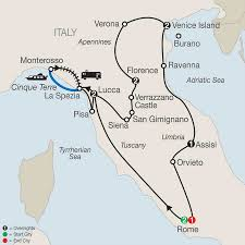 Tuscany Italy Map Italy Vacation With Rome Assisi U0026 More Globus Tours