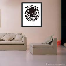 nordic decoration 2018 simple nordic decorative painting cartoon black sheep home