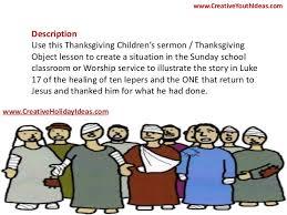 thanksgiving ideas ten lepers