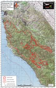 Fires In California Map Day 60 Soberanes Fire Infrared Map Big Sur California