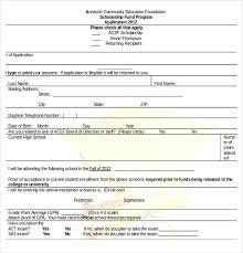 15 scholarship application templates u2013 free sample example