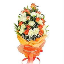 beautiful bouquet of flowers bouquet of white and orange roses flower