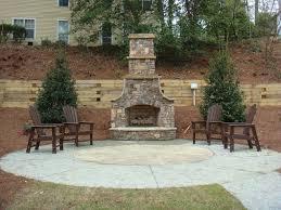 Backyard Patio Ideas Stone Outdoor Fireplace Designs Stone Artofdomaining Com