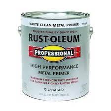 rust oleum 215969 professional gallon white primer enamel paint