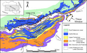 Map Of Belgium And France by Stratigraphy And Depositional Environments Of The Late Famennian