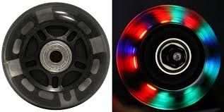 led inline wheels 76mm 82a skate rollerblade ripstik
