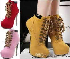 womens boots booties womens lace up high heel ankle boot booties stiletto platform
