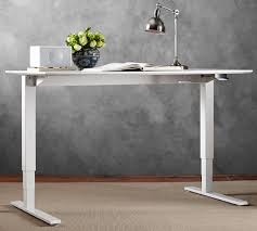 Sit Stand Desks Humanscale Sit Stand Desk White Base Pottery Barn