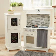 play kitchen from furniture teamson sunday brunch play kitchen with refrigerator hayneedle