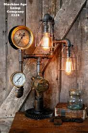 steampunk lamp by machine age lamps steam gauge industrial 124 sol
