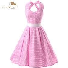 pink dress sishion polka dots dress halter