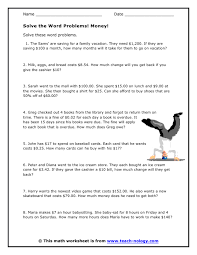 awesome collection of money word problems worksheets with