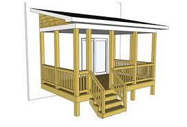 covered porch plans decks com free plans