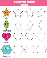 handwriting practice sheet educational children game kids