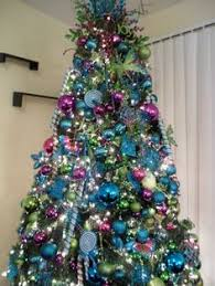 Blue Christmas Trees Decorating Ideas - pix for u003e blue and purple christmas tree decorating ideas