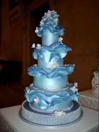 should my cake match my dress blue wedding cakes ocean cakes