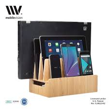 amazon com mobilevision bamboo charging station u0026 multi device