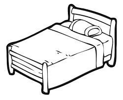 bed image bed clipart black and white