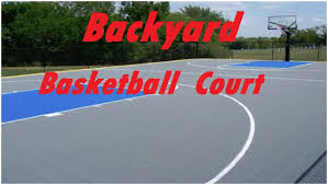 backyards superb back to post backyard basketball court size 6