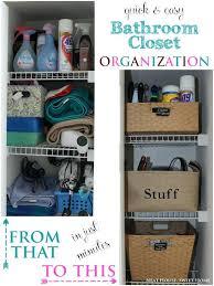 Bathroom Closet Shelves Bathroom Closet Storage How To Organize Bathroom Closet
