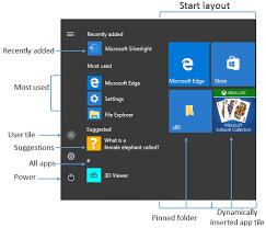 manage windows 10 start and taskbar layout windows 10