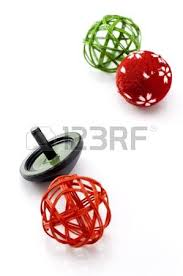 New Year Decoration Games by Japanese New Year Decoration On White Background Stock Photo