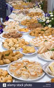 food tables at wedding reception food buffet table at a wedding reception in the uk stock photo