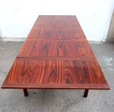 mid century danish modern eight foot rosewood dining table by kai