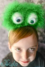 easy furry monster eyeball headband tutorial tikkido