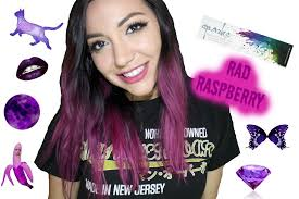black hair to raspberry hair dying my hair with sparks hair color in rad raspberry youtube