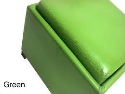 Green Storage Ottoman Contemporary Storage Ottoman With Tray Green Lc530otlegr