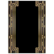 Gatsby Invitations Gatsby Gold Wedding Gatefold Invitations Paperstyle