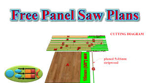 making modern furniture free panel saw plans simple design small footprint useful for