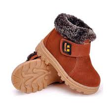 kid shoes dadawen boy s girl s leather waterproof winter boots toddler