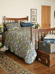 morris u0026 co strawberry thief quilted throw blue house of fraser