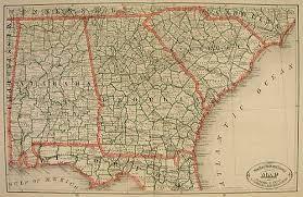 road map of south carolina rail road and county map of alabama south carolina