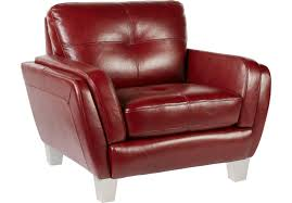 Red Leather Chair Cindy Crawford Home Palermo Red Leather Chair Rooms To Go Puerto