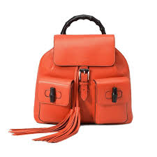 gucci backpack bamboo leather bright orange 370833 u2013 lux2be