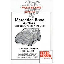 mercedes benz a class 160cdi 170cdi u0026 l cdi diesel repair manual