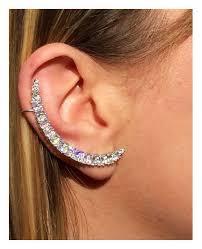 cartilage cuff earrings ear post earrings cartilage earring diamond ear cuff