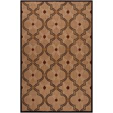 3 X 5 Indoor Outdoor Rugs by Woven Brown Allusion Indoor Outdoor Moroccan Lattice Rug 3 U00279 X 5
