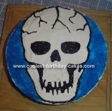 cool homemade skull cake halloween cakes birthday cakes