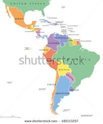 south america dot map america political map capitals national stock vector