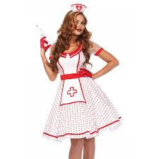 attractive head nurse womens costume set