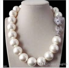 white shell pearl necklace images 2018 huge aaa 16mm south sea round white shell pearl necklace jpg