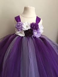 purple tulle purple lavender and plum tulle flower girl dress dress